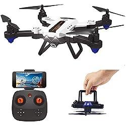 HAOXIN F22G FPV RC Drone Quadcopter Plegable con Cámara Gran Angular Ajustable 720P HD, Largo Alcance Drone Exterior Fácil de Volar Planificación de Ruta de Helicóptero, Larga Vida Batería Modular