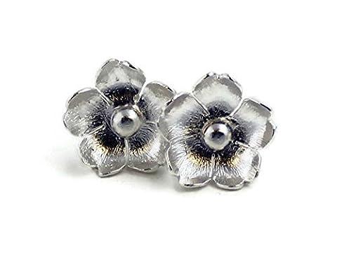 Sophia Boucles d'oreilles à tige en Argent Sterling 925Motif floral Rose