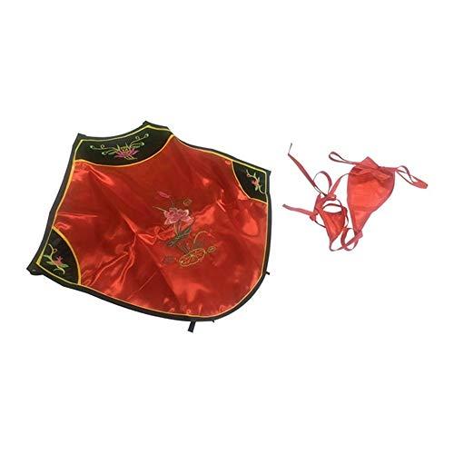 HUANG LI HAN sexy Dessous heiße Frauen sexy Bauchtasche tempts Cheongsam Klassische Erwachsene liefert haltter erotische Dessous sexy Underwear rot one Size