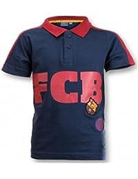 FC Barcelone - Polo Tee shirt enfant FC Barcelone bleu Taille de 6 à 14 ans - 6 ans,8 ans,10 ans,12 ans,14 ans