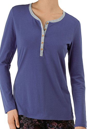 CALIDA Top Langarm-favourites Trend 4 - Haut de pyjama - Femme Gris lapin
