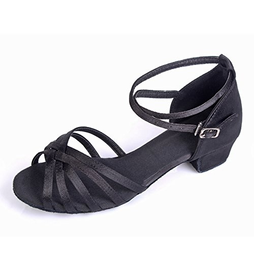 Wuyulunbi@ ballo latino scarpa acrobatico solo scarpe da ballo Bambino nero ad alta tessere