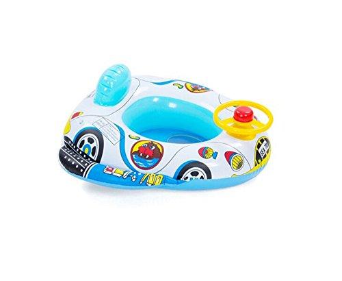 QHYK Aufblasbares Baby-Kind-Kleinkind-Säuglingsschwimmen-Sitz-Schwimmer-Boots-Ring-Raft-Stuhl-Pool-Spielzeug  (Redner Auto)