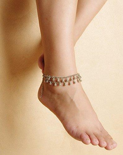 aukmla Fußkettchen Kette 1Für Frauen Yoga 2-stufig Beach New Fashion Barfuß Sandale Fuß Armbänder (Kleid Sandalen Zehenring)