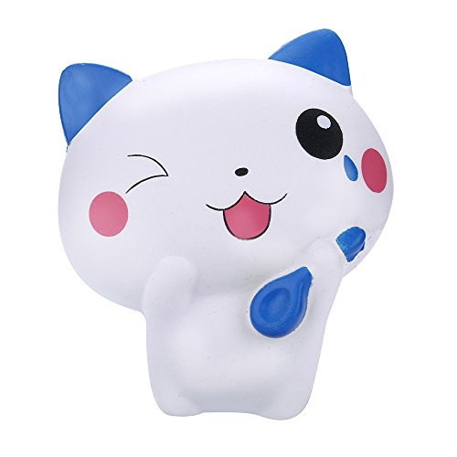 Coupon Matrix - GreatestPAK Clearance! 2018 Newest Cat Squishys, Jumbo Kawaii Soft Slow Rising Cream Scented Stress Relief Birthday Gift For Girls Boys By (Blue)