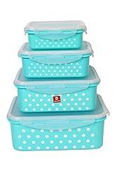 DUCATI Elegant, Beautiful & High Quality Material Multipurpose Plastic Storage Box (Pack of 4)