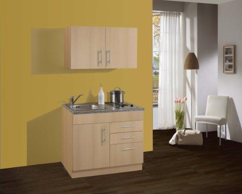 Held Möbel 973.6510 Single-Küche 100 mit 2-er E-Mulde, buche