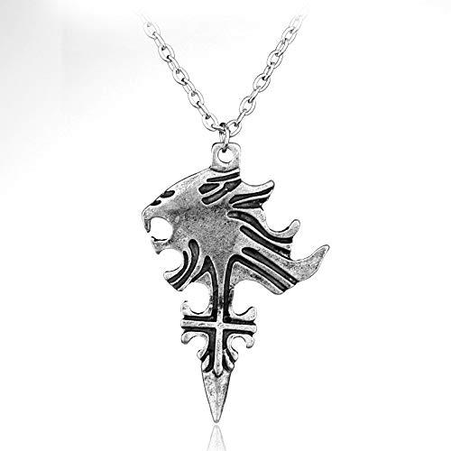 Halsketten für Herren Dx Final Fantasy Viii Halskette Sleeping Lion Heart Squall Pendant Halskette Für Männer Und Frauen Cosplay (Squall Cosplay Kostüm)