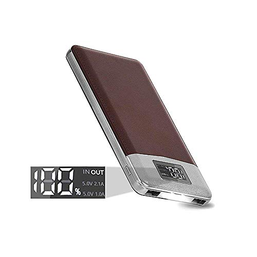 KREKCO Power Bank 12000mah Mobiler Akku 2- Port USB 2.0A Portable Charger LED Digital Display Externer Akku Handy Ladegerät für Smartphones