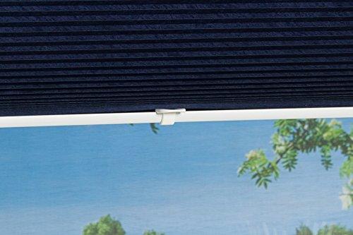 K-home Klemmfix-Plissee Palma Blau 70 x 130 cm (B x L) Lichtschutz +++ Moderne Crushed Optik +++ - 7