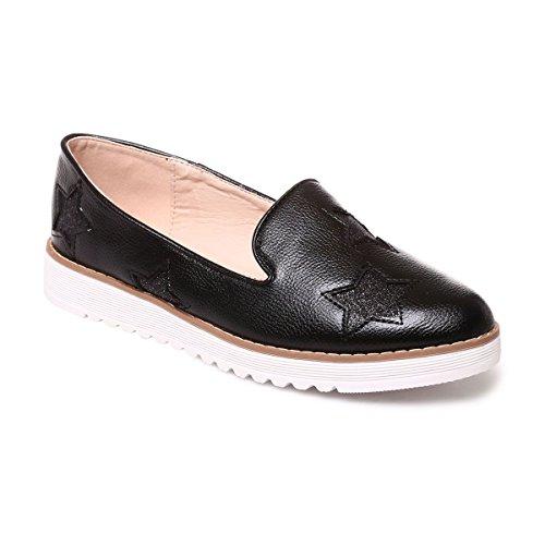 La Modeuse Slippers Femme en Simili Cuir Noir