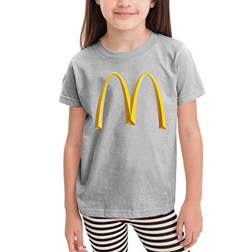 Kinder Jungen Mädchen Shirts McDonalds T Shirt Kurzarm T-Shirt Für Tollder Jungen Mädchen Baumwolle Sommer Kleidung Grau 2 T -
