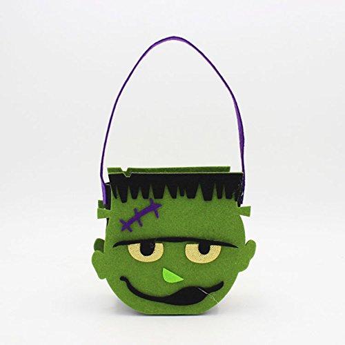 Lanlan Dekorationen Requisiten Halloween-Kostüm Filz Creative Vlies Gespenst Kürbis Totenkopf Tasche (Louis 14 Kostüm)