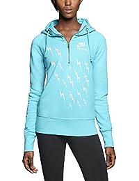 Nike Women s AW77 Track   Field - Nachthemd mit halbem Rei verschluss  Kapuzenpulli Dusty Cactus b5e779f026
