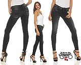 Le Temps des Cerises Damen Jeans JF ULTRAPOWER Skinny 5-Pocket Jeanshose Black 31