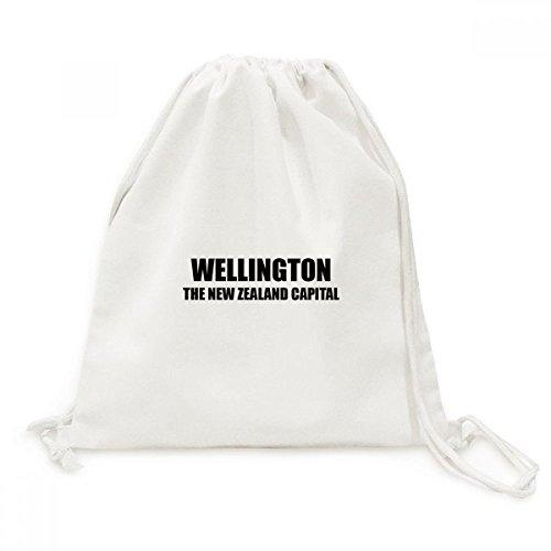 DIYthinker Wellington Die neuseeländische Hauptstadt Canvas-Rucksack-Reisen Shopping Bags