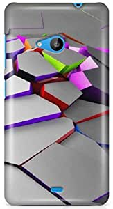 Expert Deal 3D Printed Hard Designer Microsoft Lumia 535 Mobile Back Cover Case Cover