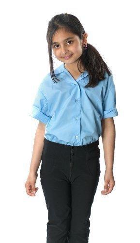 Girls School Skinny Hose Leg Reißverschluss auf der Vorderseite, Slim Fit Bein, dehnbar, Schwarz
