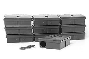 LODI REF R3108 Poste d'appâtage sécurisé pour souris boîte sécurisé porto peti Lot de 10