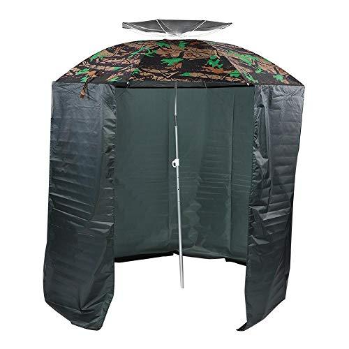 Zerone Angelschirm,Angelzelt Robuster Oxford-Stoff & Edelstahl-Outdoor-Regenschirm mit Schürzenstoff Dome Schirm