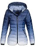 DESIRES Bussy Steppjacke Winterjacke Jacke mit Kapuze Ombre 1991 Insignia Blue L
