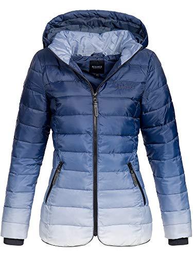DESIRES Bussy Steppjacke Winterjacke Jacke mit Kapuze Ombre 1991 Insignia Blue XS -