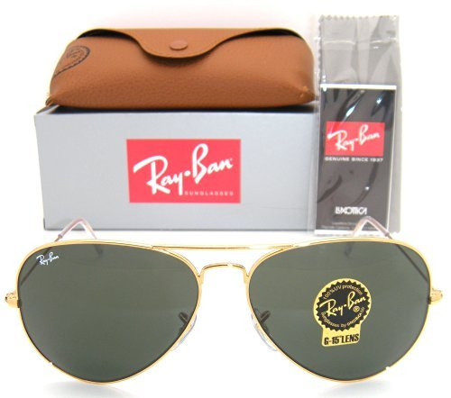 New Ray Ban RB3025 003/3F Aviator Silver/Crystal Gradient Light Blue Lens 58mm Sunglasses