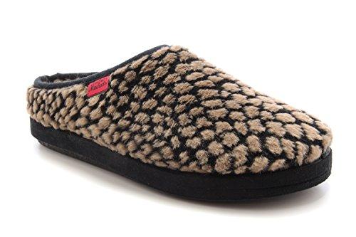 Pantofole Alpine a Pallini Marrone.50