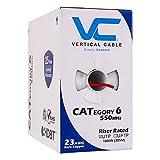 Vertikal Kabel CAT6, 550MHz, UTP, 23AWG, Kupfer, massiv blank 1000ft, Rot, Bulk Ethernet Kabel