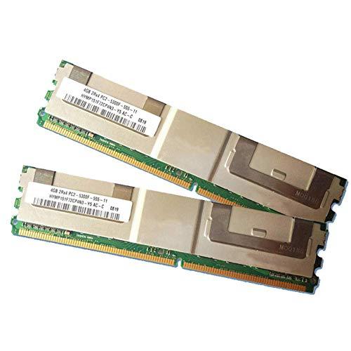 Dengofng 4GB 2 X 2GB PC2-5300F 667MHz 240 Polig DDR2 Sdram ECC Fb Fb-Dimm Server Speicher für Dell Precision Workstation R5400 Brand - Wie abgebildet, Free Size -