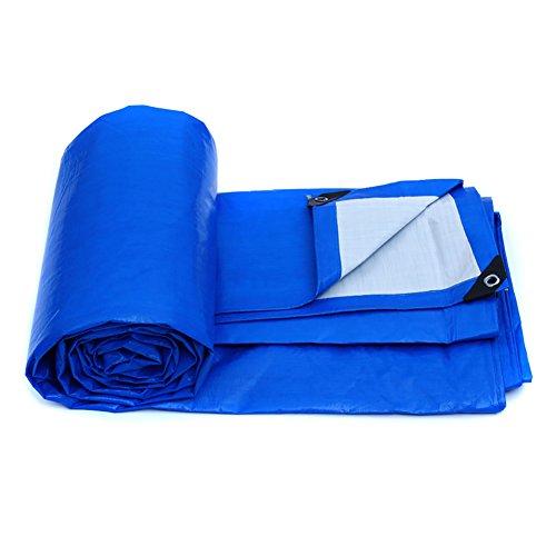 LFF- Polyethylen-Plane-wasserdichter Blau-weißer Außensonnenschutz-Isolierungs-Markisen-Plane-Blatt 155g/㎡ (größe : 6X4m)
