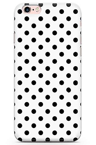 iPhone 6 / 6s Diseñador Fresco del Lunar Blanco Funda de Teléfono de Goma Cover Moda Linda Tendencias Chicas Estilo