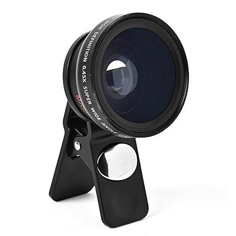 I3C - Kit de Lentille de Caméra - Objectifs Professionnels de Téléphone Portable - pour Appareil Photo de Téléphone - Compatible avec Caméra Numérique/iPhone/Samsung/iPad et Autres