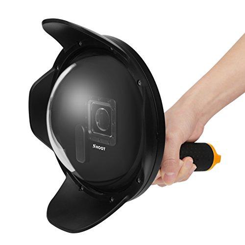 SHOOT Subacuático Cúpula 6 Pulgada V2.0 Dome con Parasol para Gopro 3+/4 Black Silver Cámara de Acción