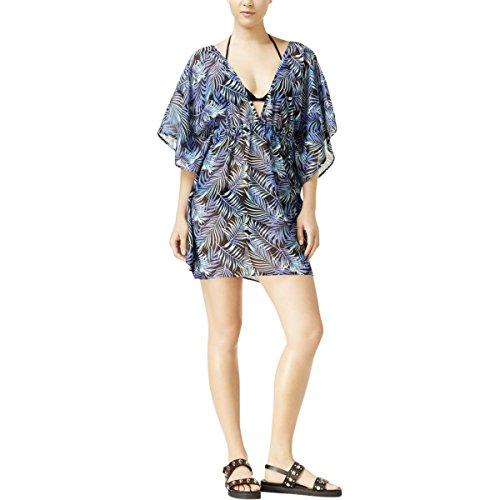 Miken Junior Damen-Badeanzug mit tropischem Aufdruck, für Caftan - Blau - Medium (Junior Badeanzug Cover Ups)
