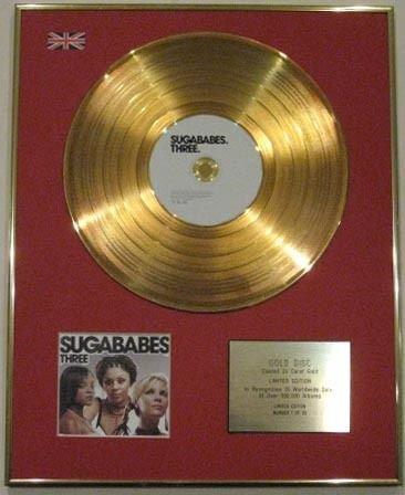 Sugababes-Ltd Edtn 24carati CD disco d' oro-tre