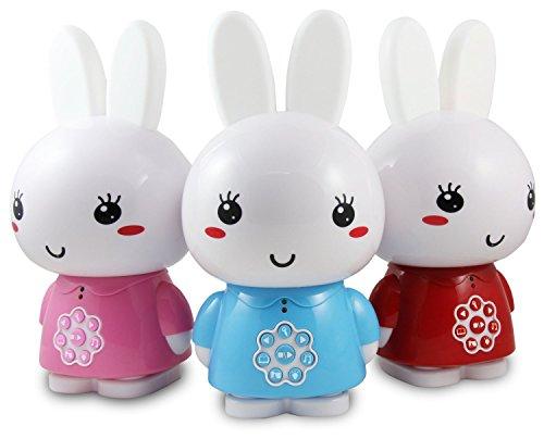 Alilo Honey Bunny (Rot) Edutainment für Ihr Kind LED Nachtlicht Schlummerleuchte + ausgesuchte Geschichten und Lieder!