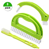 Vamei Grout Cleaner 3 in 1 Tile Brushes with Nylon Bristles for Bathroom