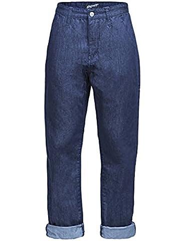 New Ladies High Waisted Boyfriend Jeans Mom Jeans Indigo Blue