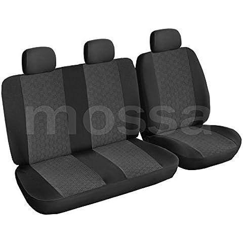 ELEGANCE (E1) (totalmente a medida) - Juego de fundas de asientos a: Ford Transit BUS (3-plazas) - (2000-2006)