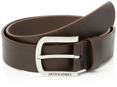 JACK & JONES Herren JACHARRY BELT NOOS Gürtel, Braun Black Coffee, 95
