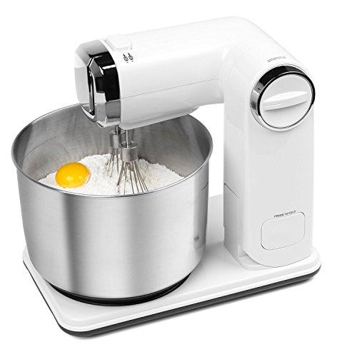 MEDION MD17664 Robot de Cuisine Pliant, Blanc/INOX