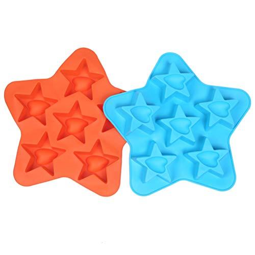 Descripción: Hecho de material de silicona de grado alimenticio, este molde de forma de estrella es duradero y seguro para su uso. Con 6 cavidades diseñadas, puede hacer muchos cubitos de hielo cada vez. Además, se puede utilizar no solo para hielo, ...