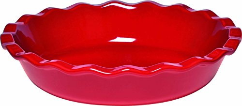 Emile Henry Eh346131 Plat à Clafoutis Céramique Rouge Grand Cru 26 X 26 X 5,5 cm