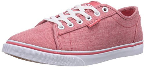 Vans - Rowan, Sneaker basse Donna Rosso (Rot ((Linen) red/whi FHQ))