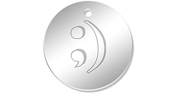 11 x 34mm /'Semicolon Symbol/' Mirror Pendants PN00041978 Charms