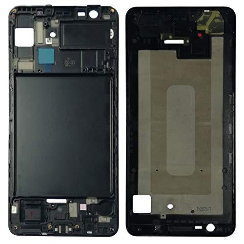 Lcd Display Bezel (Kompatibel für Samsung Galaxy A7 2018 A750F SM-A750 Schwarz Ersatzteil Spare Part Middle Frame SCOCCA Cornice TELALE Front Gehäuse LCD Display Rahmen Bezel Replacement)