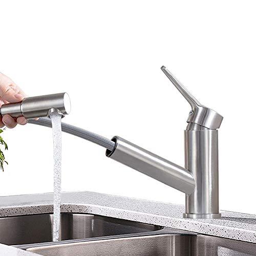ONECE Küchenarmatur mit herausziehbarer Einhand-Spültischarmatur Wasserhahn Mischbatterie für Küche
