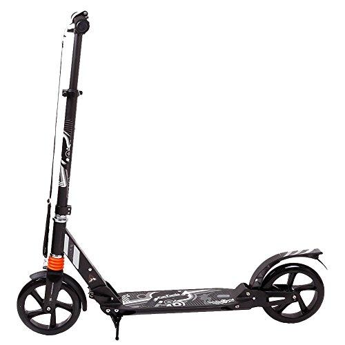 FunTomia® Kick Scooter ALU City Roller Tretroller Große 205mm Reifen mit ABEC-11 Kugellager klappbar