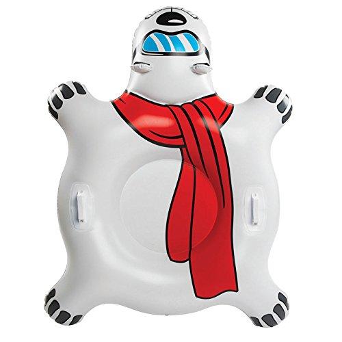 XXL Eisbär Snow Tube - Eisbär Rutschreifen Polarbär Schneereifen Schal Schnee Reifen (Schlitten Und Snow-tubes)